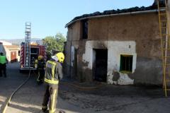 """Incendio en Torrejoncillo en la zona de \""""San Sebastián\"""""""