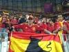 Antonio Mora con su mítica bandera