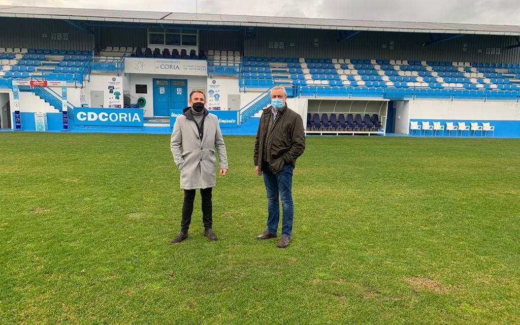 Apoyo y colaboración de la Diputación de Cáceres al C.D. Coria