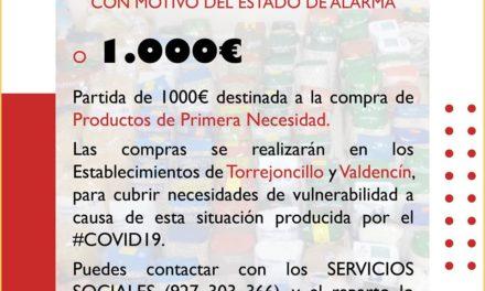 Medidas sociales del Ayuntamiento de Torrejoncillo