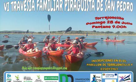 La VI Travesía Familiar Piragüista de San Pedro el próximo Domingo 28 de Julio