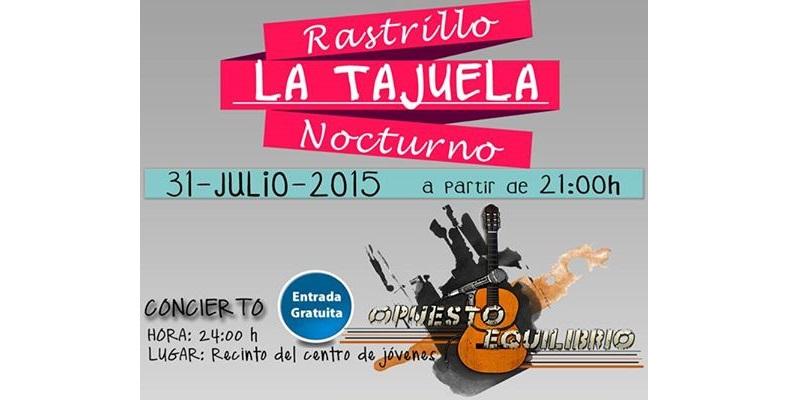 Este viernes: Rastrillo Nocturno y concierto organizado por La Tajuela