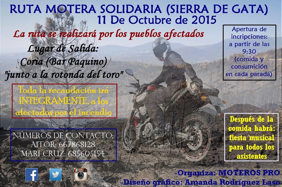 Ruta Motera Solidaria por la Sierra de Gata