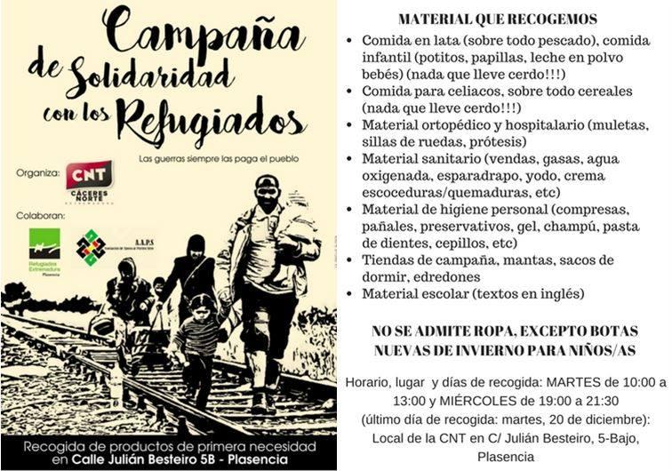 Campaña de Refugiados Extremadura: Solidaridad con el pueblo Sirio