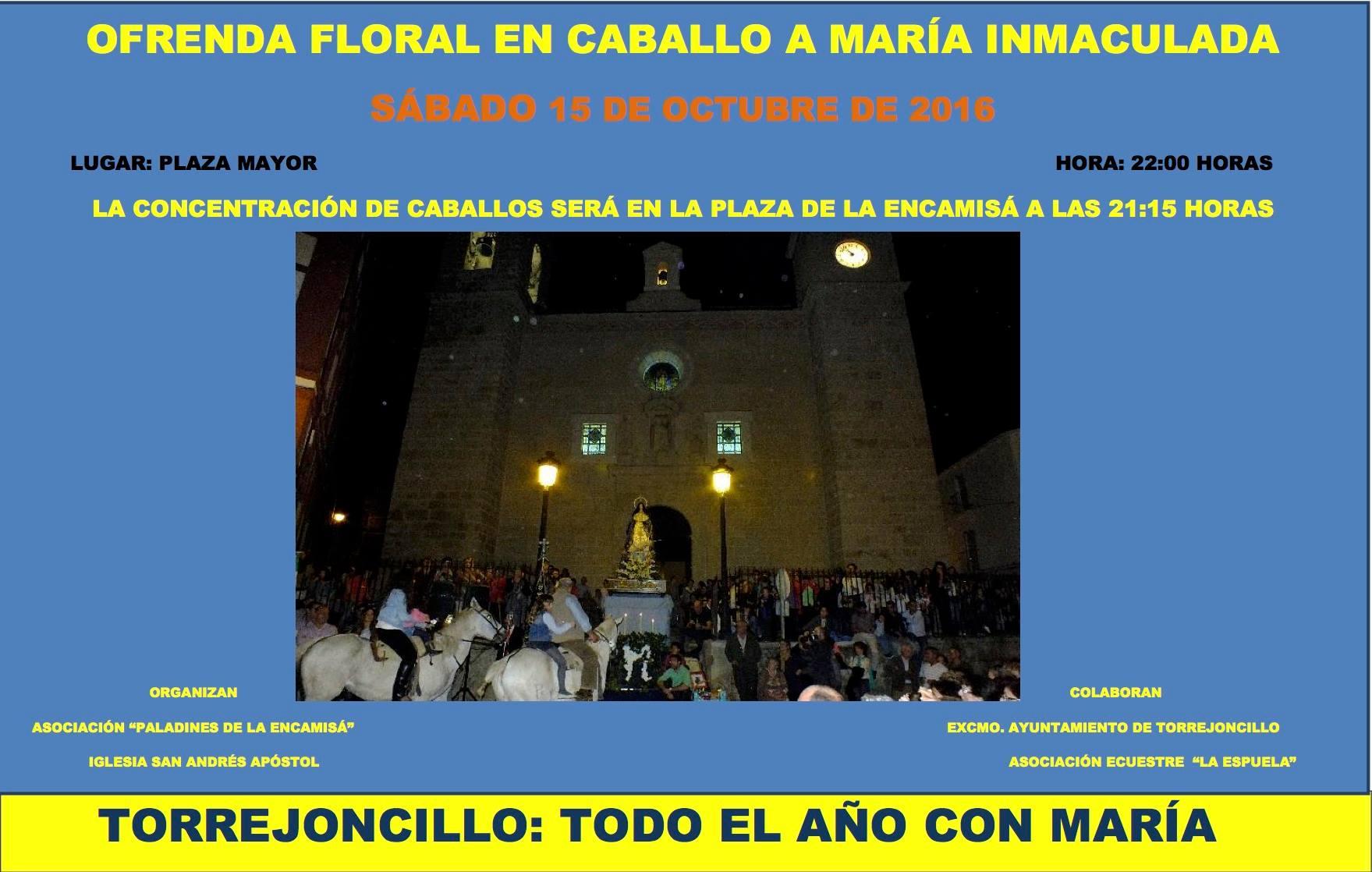 Ofrenda Floral a caballo a María Inmaculada