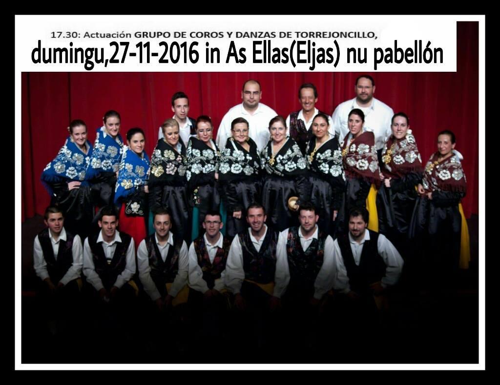 Actuación en Eljas del Grupo de Coros y Danzas