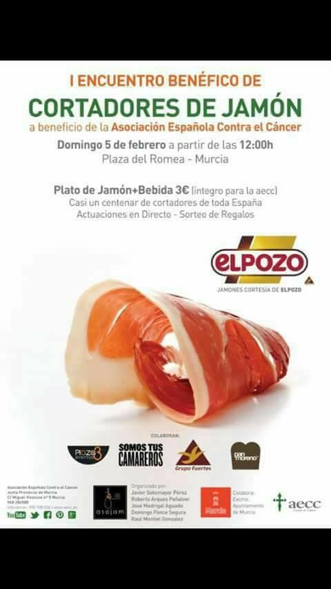 Jorge Bertol en el I Encuentro benéfico de Cortadores de Jamón