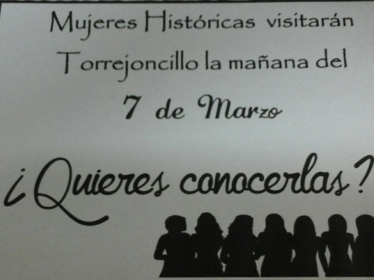 Mujeres históricas visitarán Torrejoncillo