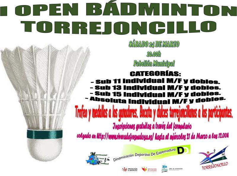 24 de Marzo – I Open de Bádminton de Torrejoncillo