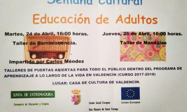 Semana Cultural de Educación de Adultos en Valdencín