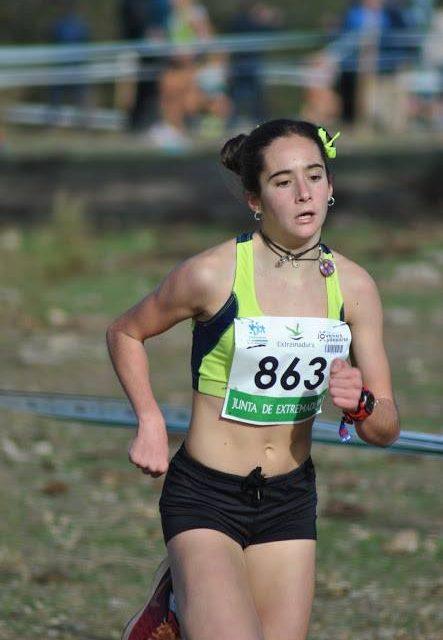 Celia Testón en el Campeonato de España Sub 14 de pista