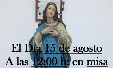 Bendición de una imagen de la Inmaculada