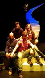 Los integrantes de Jachas Teatro en su viaje a Dos Hermanas (Sevilla) - JACHAS TEATRO