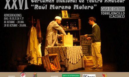 Continúa el XXVI Certamen de Teatro «Raúl Moreno Molero» de Torrejoncillo