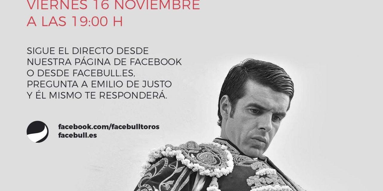 Emilio de Justo en directo en Facebull