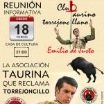 Nace el Club Taurino torrejoncillano Emilio de Justo