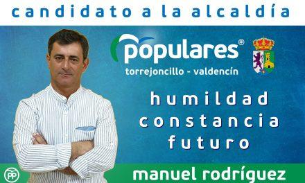Manuel Rodríguez candidato popular a la Alcaldía de Torrejoncillo-Valdencín