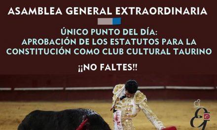 Asamblea General Extraordinaria del Club Taurino Emilio de Justo