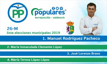 Candidatura del Partido Popular Torrejoncillo-Valdencín