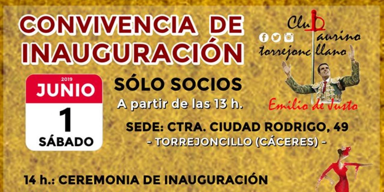 Convivencia de inauguración del Club Taurino Emilio de Justo de Torrejoncillo