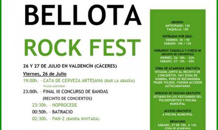Horarios del Bellota Rock Fest