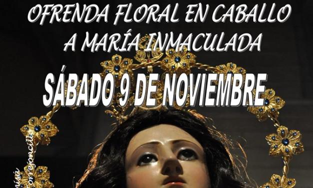 Ofrenda Floral a Caballo a María Inmaculada 2019