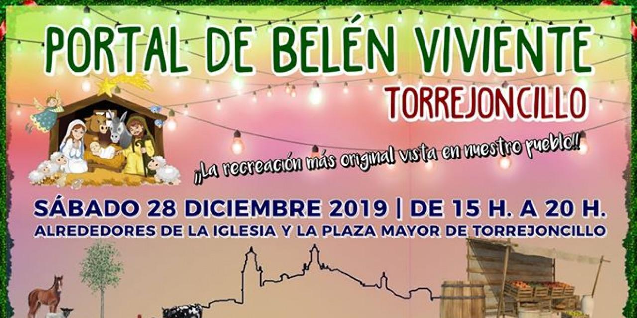 Portal de Belén viviente en Torrejoncillo