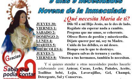 ¿Qué necesita María de tí? 9 días 9 necesidades. Novena a la Inmaculada.