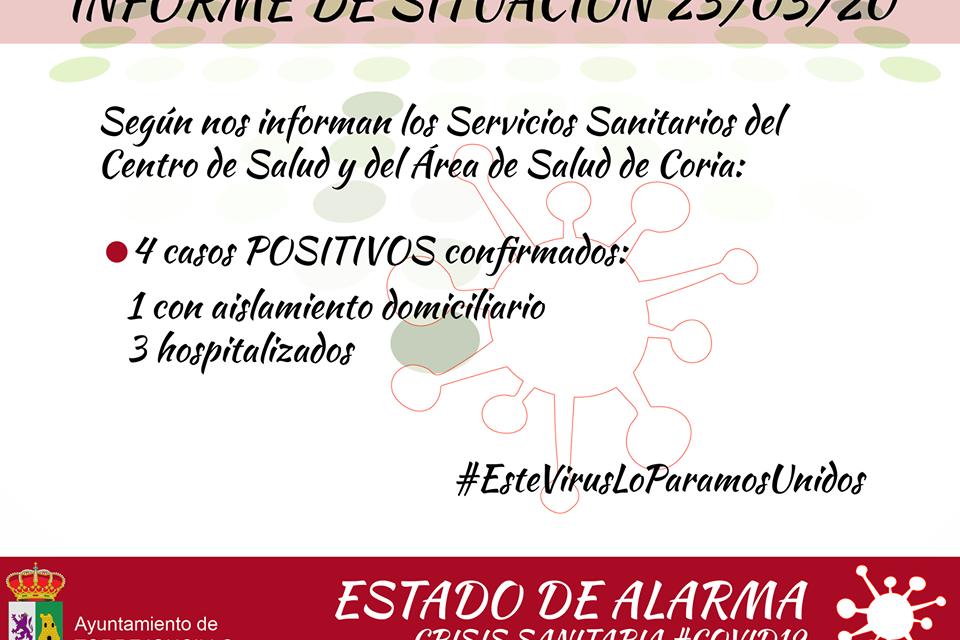 4 caso de coronavirus en Torrejoncillo