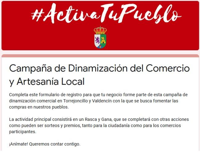 CAMPAÑA DE DINAMIZACIÓN DEL COMERCIO Y LA ARTESANÍA LOCAL