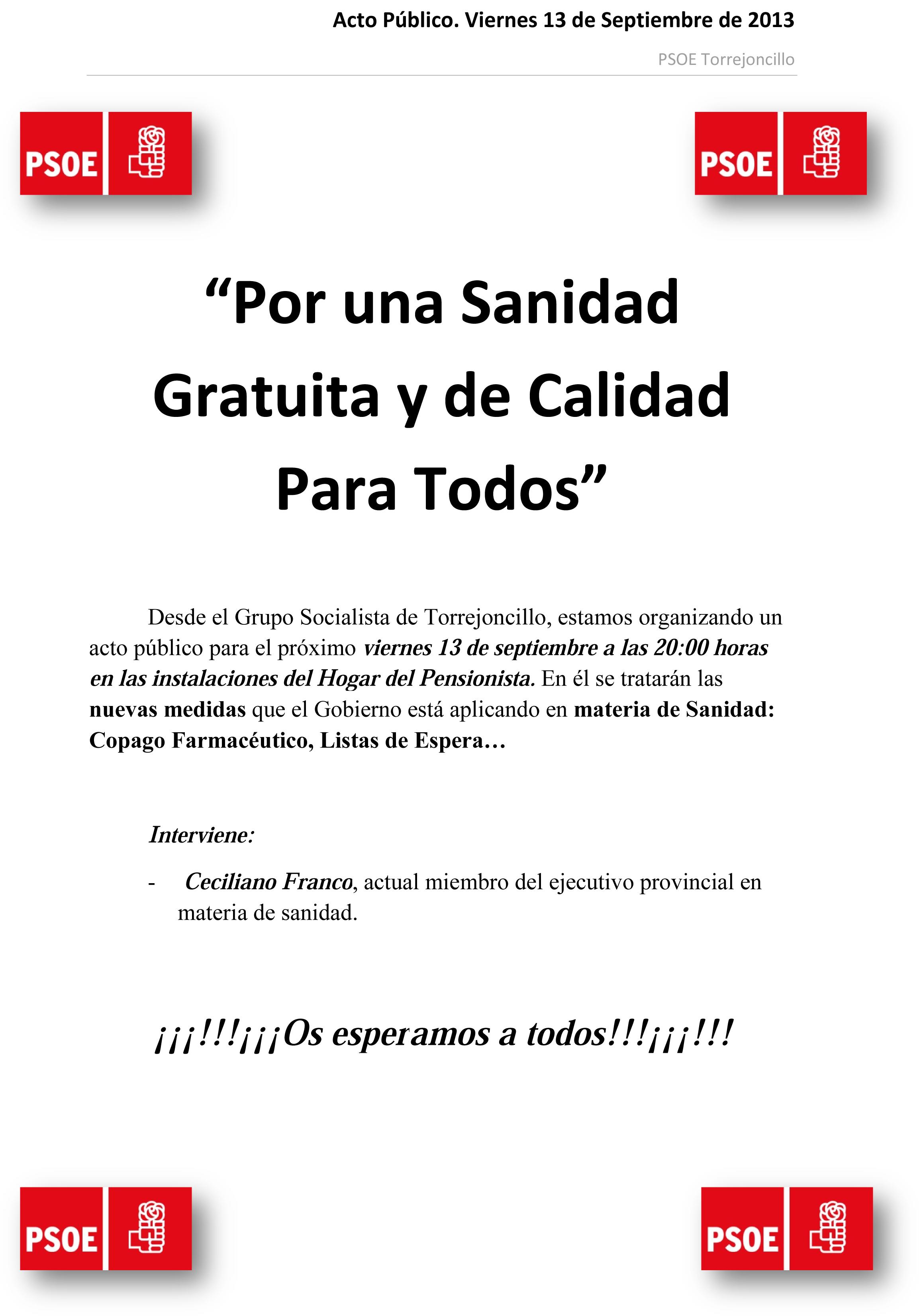 Acto Público 13092013