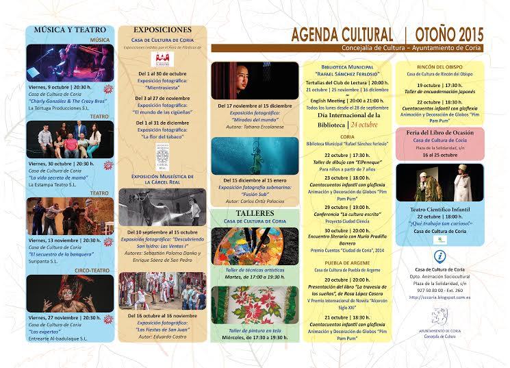 Amplia agenda cultural en Coria