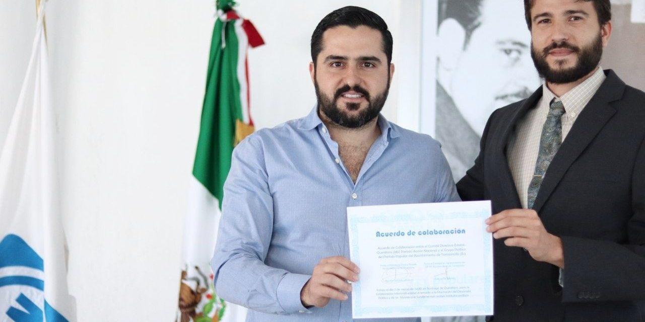 Populares Torrejoncillo-Valdencín (PP) firma un acuerdo de colaboración con Partido Acción Nacional (PAN), de Querétaro, México.