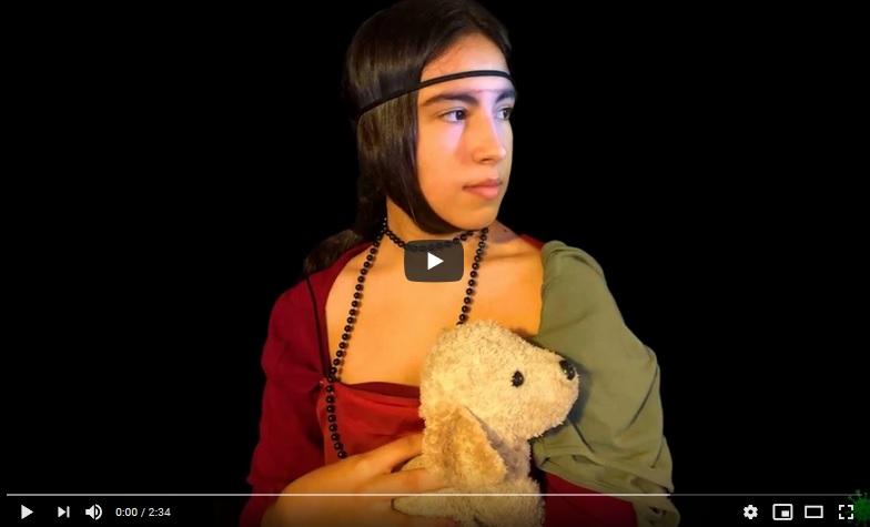 Museo del Prao. «La joven del armiño» de Leonardo da Vinci por Amalia Rodríguez