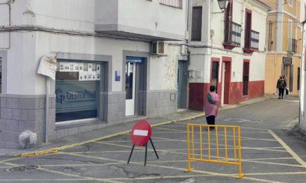 CORTE DE LA C/ANTONIO SARMIENTO POR OBRAS