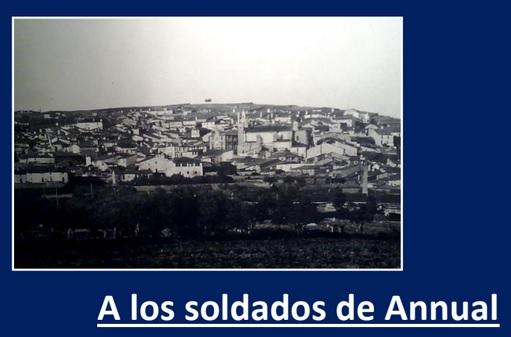 Dedicado a los soldados Torrejoncillanos en Annual