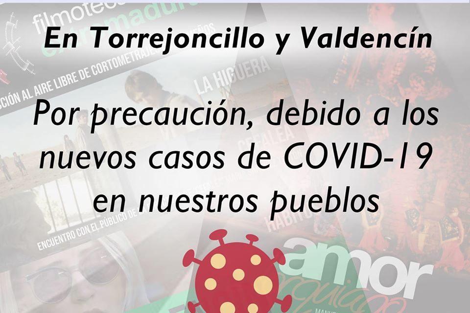 APLAZADOS LOS EVENTOS CULTURALES EN TORREJONCILLO Y VALDENCÍN