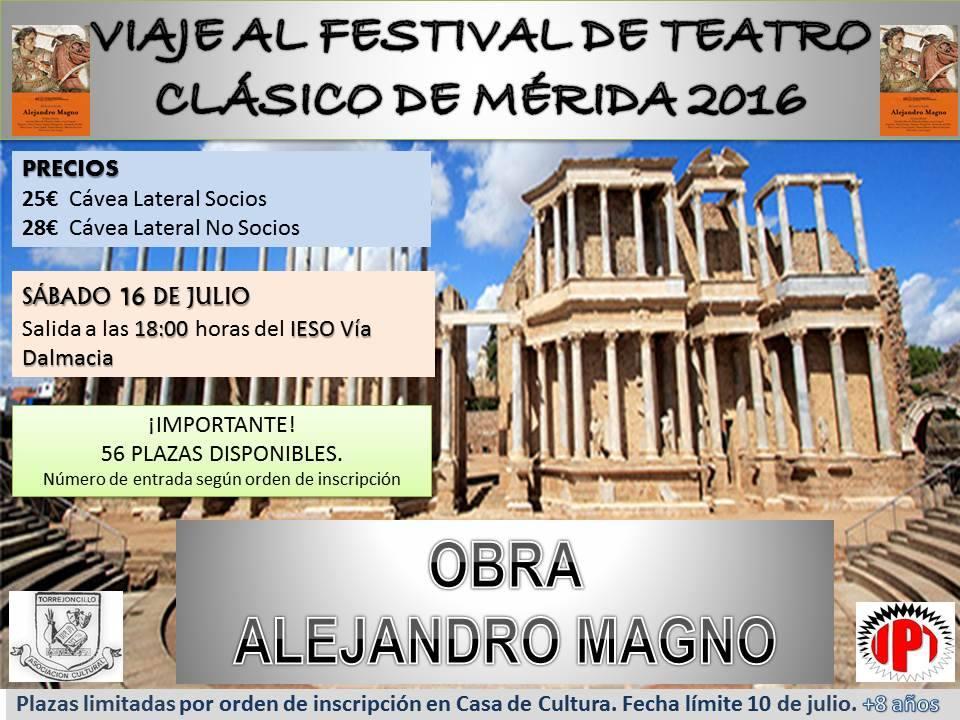 La Asociación Cultural de Torrejoncillo en el Festival de Teatro Clásico de Mérida
