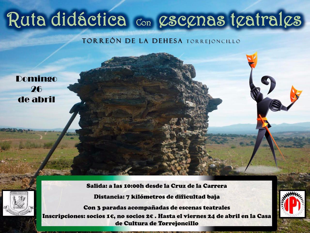 Ruta didáctica con escenas teatrales en Torrejoncillo