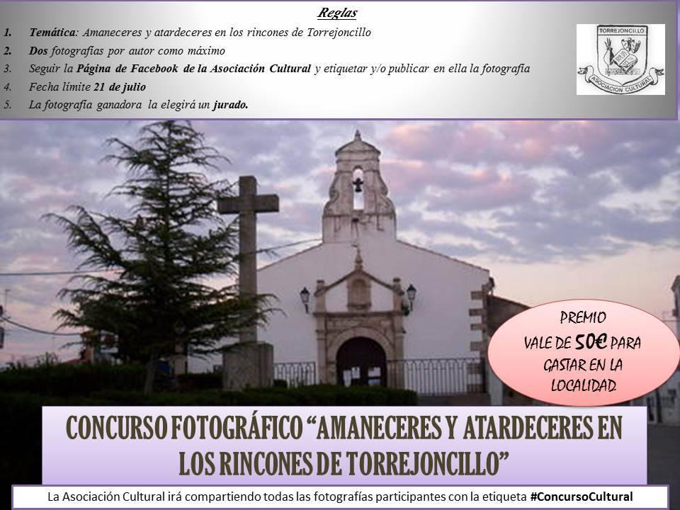 Concurso Fotográfico «Amaneceres y atardeceres en los rincones de Torrejoncillo»