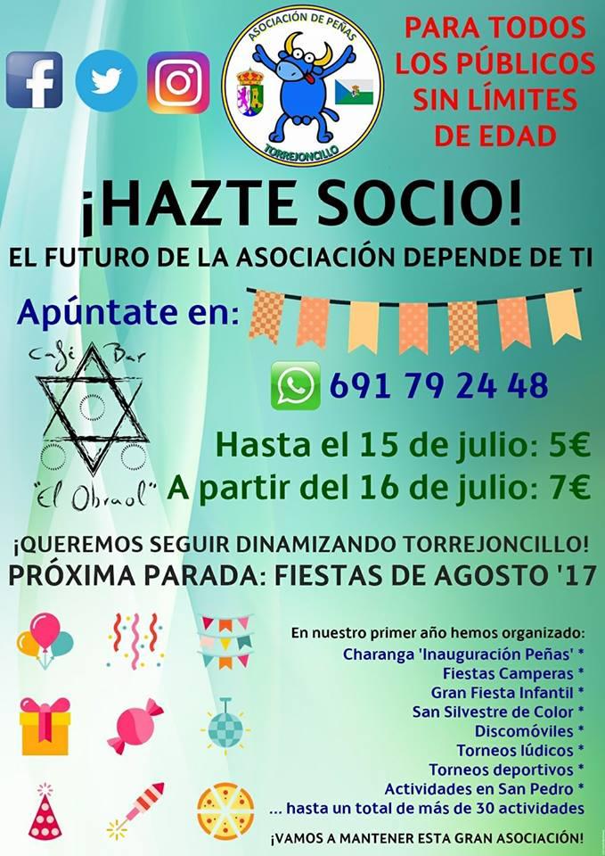 Asociación de Peñas de Torrejoncillo apúntate y colabora