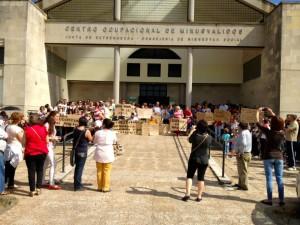 Manifestación de la Plataforma de Apoyo a la permanencia de Aspace en Moraleja - SIERRA DE GATA DIGITAL