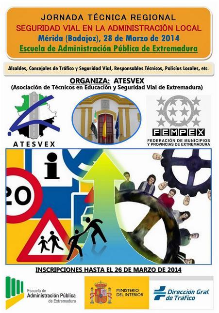 La asociación de seguridad vial afincada en nuestra localidad organiza Jornada Técnica Regional de Seguridad Vial en la Administración Local en Extremadura