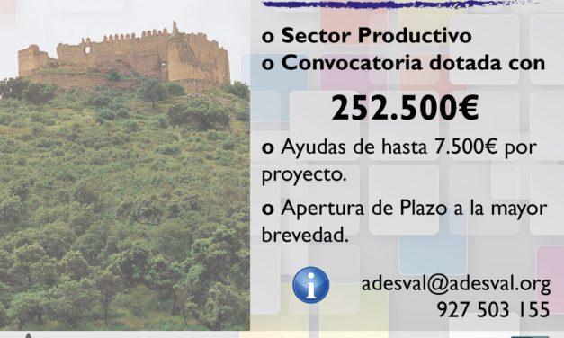 ADESVAL destina 252.500 euros a ayudas para empresas de la comarca