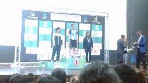 Andrea Moreno consiguió subir al segundo escalón del podio - DINAMIZACIÓN DEPORTIVA