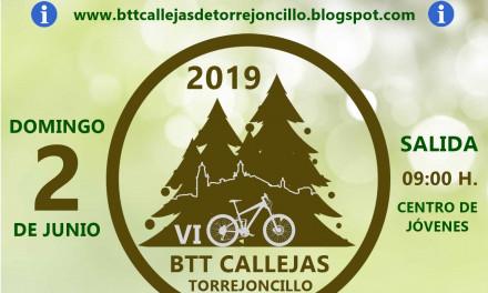 La VI BTT Callejas de Torrejoncillo, el Domingo 2 de Junio