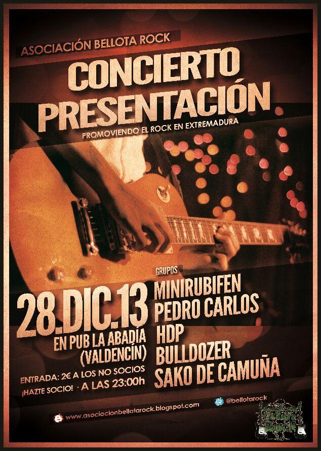 La Asociación Bellota Rock se presenta con un concierto en Valdencín