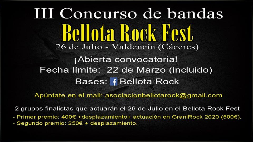 III Concurso de Bandas Bellota Rock Fest