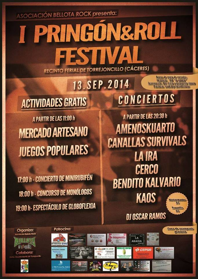 I Pringon&Roll Festival de Torrejoncillo