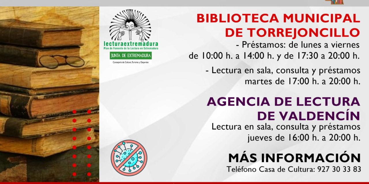 REAPERTURA DE LA BIBLIOTECA DE TORREJONCILLO Y LA AGENCIA DE LECTURA DE VALDENCÍN
